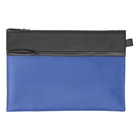 Reißverschlusstasche Velobag Combi 34,2x23cm schwarz/blau Stoff Veloflex 2724250 Produktbild