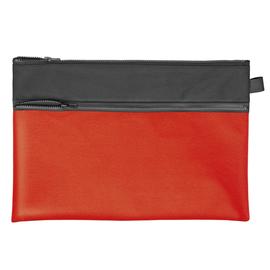 Reißverschlusstasche Velobag Combi 34,2x23cm schwarz/rot Stoff Veloflex 2724220 Produktbild
