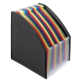 Stehsammler 25,5x15x4cm bunte Fächer mit Taben schwarz PP Veloflex 4446380 Produktbild