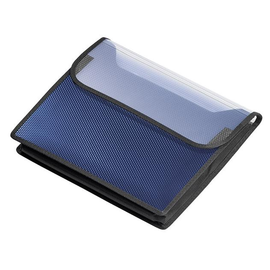 Sammelbox Velobag A4 quer mit Klettver schluss 35,5x26cm blau PP Veloflex 1443452 Produktbild