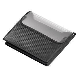 Sammelbox Velobag A4 quer mit Klettver schluss 35,5x26cm schwarz PP Veloflex 1443482 Produktbild