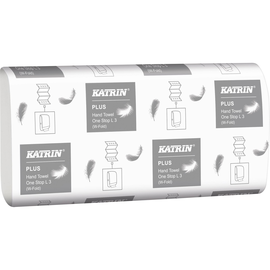 Katrin Papierhandtuch 344020 3lagig weiß 1.890 Bl./Pack. (PACK=1890 STÜCK) Produktbild
