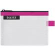 Traveller Zip-Beutel S Wow transparent/pink wasserabweisend Leitz 4024-00-23 Produktbild