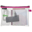 Traveller Zip-Beutel M Wow transparent/pink wasserabweisend Leitz 4025-00-23 Produktbild Additional View 1 S