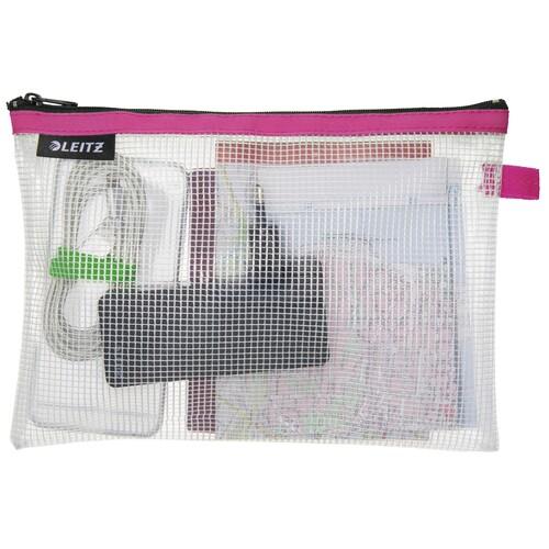 Traveller Zip-Beutel M Wow transparent/pink wasserabweisend Leitz 4025-00-23 Produktbild Additional View 1 L