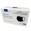 Mund- und Nasenmaske / OP-Maske schwarz 3-lagig zert. EN14683:2019 Typ II R Produktbild Additional View 2 S