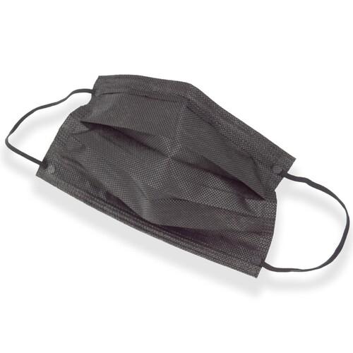 Mund- und Nasenmaske / OP-Maske schwarz 3-lagig zert. EN14683:2019 Typ II R Produktbild