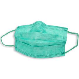 Mund- und Nasenmaske / OP-Maske grün 3-lagig zert. EN14683:2019 Typ II R Produktbild