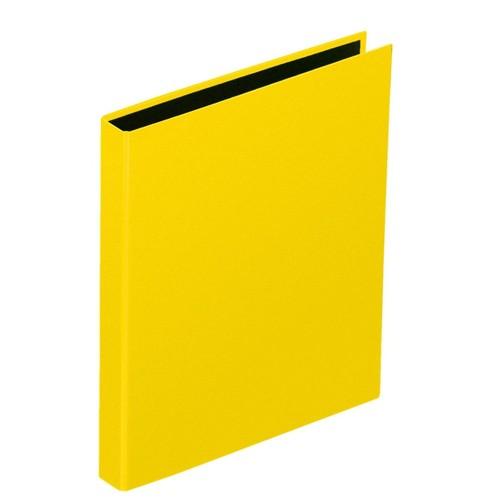 Ringbuch Basic A5 2 Ringe mit Niederhalter gelb Pagna 20407-04 Produktbild Additional View 1 L