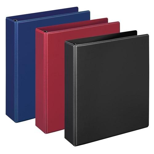 Ringbuch Comfort mit Sichttasche innen A5 Überbreite 2Ringe 194x230x33mm Ringe- Ø25mm blau PVC-Folie Veloflex 1159050 Produktbild Additional View 1 L