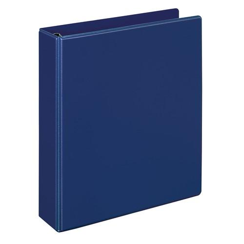 Ringbuch Comfort mit Sichttasche innen A5 Überbreite 2Ringe 194x230x33mm Ringe- Ø25mm blau PVC-Folie Veloflex 1159050 Produktbild