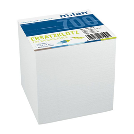 Zetteleinlagen ungeleimt 9x9cm 700Blatt weiß Papier Milan 271 Produktbild