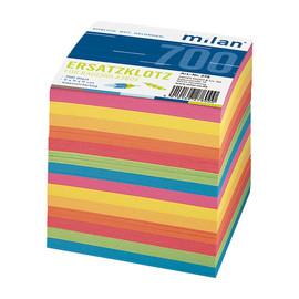 Zetteleinlagen 9x9cm 700Blatt 7-farbig Papier Milan 278 Produktbild