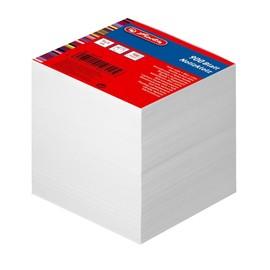 Zettelklotz geleimt 9x9cm 900BL weiß Papier Herlitz 146225 Produktbild