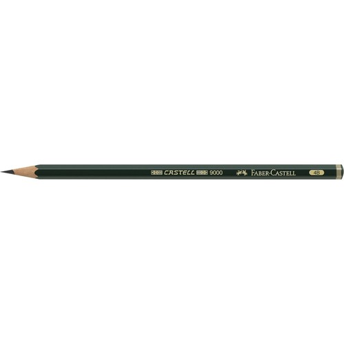 Bleistift 9000 4B sechskant Faber Castell 119004 Produktbild Front View L