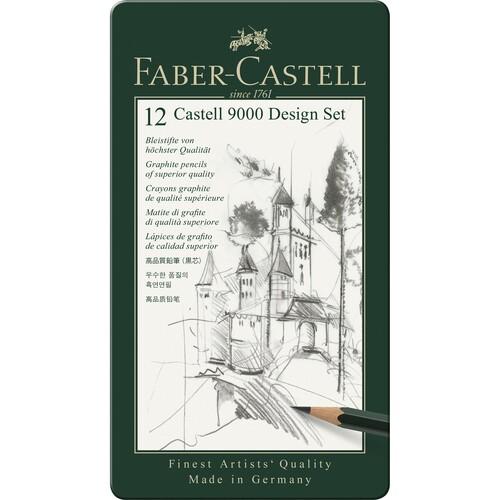 Bleistift 9000 Design-Set Metalletui Faber Castell 119064 (ETUI=12 STÜCK) Produktbild