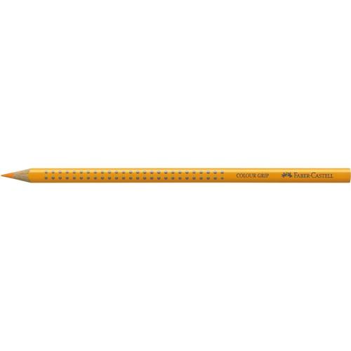 Farbstift mit Noppen COLOUR GRIP dreikant chromgelb dunkel Faber Castell 112409 Produktbild