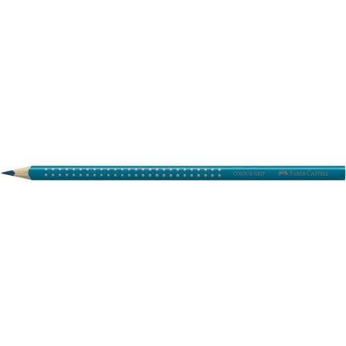 Farbstift mit Noppen COLOUR GRIP dreikant kobalttürkis Faber Castell 112453 Produktbild