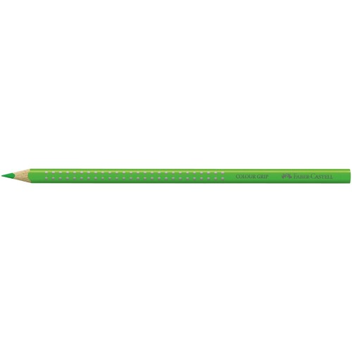 Farbstift mit Noppen COLOUR GRIP dreikant grasgrün Faber Castell 112466 Produktbild