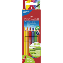 Farbstifte mit Noppen JUMBO GRIP dreikant Kartonetui sortiert Faber Castell 110906 (PACK=6 STÜCK) Produktbild