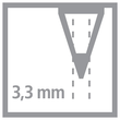 Farbstift Stabilo All für fast alle Oberflächen Glas, Metall und Kunststoff 3,3mm grün Stabilo 8043 Produktbild Additional View 1 S