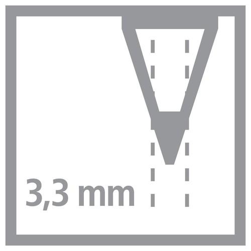 Farbstift Stabilo All für fast alle Oberflächen Glas, Metall und Kunststoff 3,3mm schwarz Stabilo 8046 Produktbild Additional View 1 L