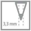 Farbstift Stabilo All für fast alle Oberflächen Glas, Metall und Kunststoff 3,3mm weiß Stabilo 8052 Produktbild Additional View 1 S