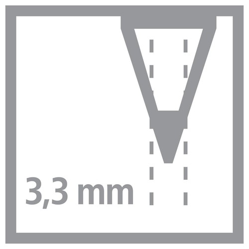 Farbstift Stabilo All für fast alle Oberflächen Glas, Metall und Kunststoff 3,3mm weiß Stabilo 8052 Produktbild Additional View 1 L