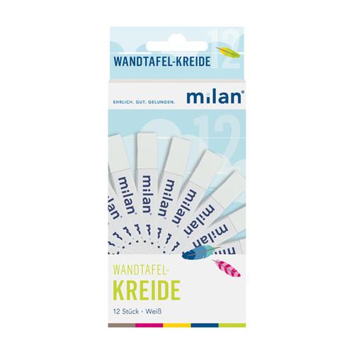 Wandtafelkreide 90mm x 13mm weiß viereckig papiergewickelt Milan 303 (SCH=12 STÜCK) Produktbild Additional View 1 L