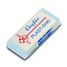 Radiergummi PLAST 46x20x9mm transparent Kunststoff Läufer 01400 Produktbild
