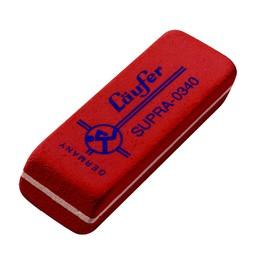 Radiergummi SUPRA 55x19x8,5mm rot Kautschuk Läufer 03400 Produktbild