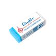 Radiergummi PLAST COMBI 46x20x9mm weiß/blau Kunststoff Läufer 07400 Produktbild
