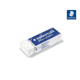 Radiergummi Mars plastic 65x13x23mm weiß Kautschuk Staedtler 52650 Produktbild