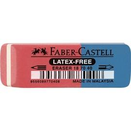 Radiergummi 7070-40 50x18x8mm rot/blau Kautschuk Faber Castell 187040 Produktbild