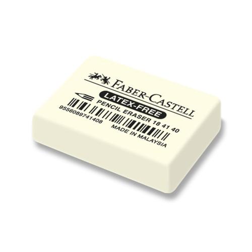 Radiergummi 7041-40 34x26x8mm weiß Kautschuk Faber Castell 184140 Produktbild Front View L