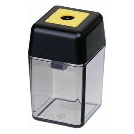 Spitzer einfach mit Behälter eckig hoch schwarz/rauch M+R 0915-0000 Produktbild