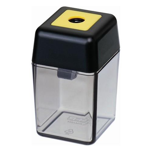 Spitzer einfach mit Behälter eckig hoch schwarz/rauch M+R 0915-0000 Produktbild Front View L