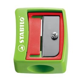 Spitzer einfach ohne Behälter für extradicke Woody-Stifte keilform rot,grün,blau Stabilo 4548/12 Produktbild