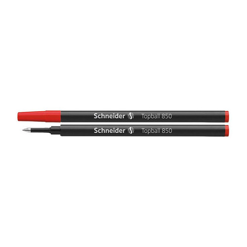 Tintenrollermine Topball 850 0,5mm rot Schneider 8502 Produktbild Front View L