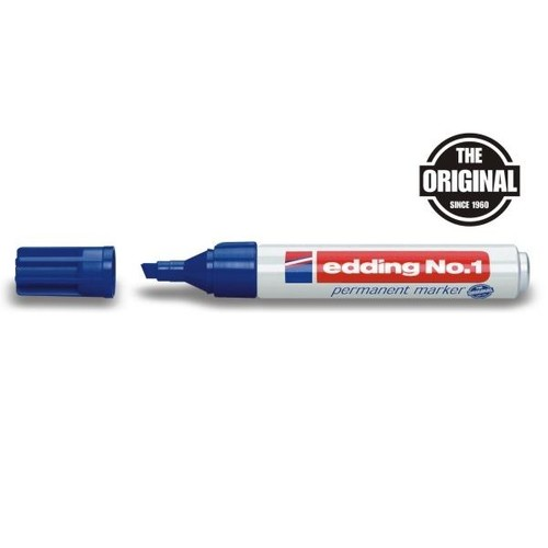 Permanentmarker No.1 1-5mm Keilspitze blau Edding 4-1003 Produktbild
