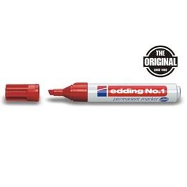 Permanentmarker No.1 1-5mm Keilspitze rot Edding 4-1002 Produktbild