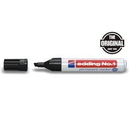 Permanentmarker No.1 1-5mm Keilspitze schwarz Edding 4-1001 Produktbild