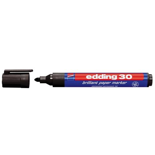 Brilliant Paper Marker 30 1,5-3mm Rundspitze schwarz Edding 4-30001 Produktbild