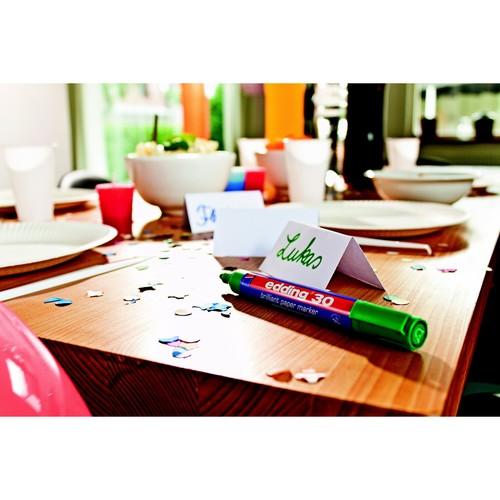 Brilliant Paper Marker 30 1,5-3mm Rundspitze grün Edding 4-30004 Produktbild Additional View 1 L