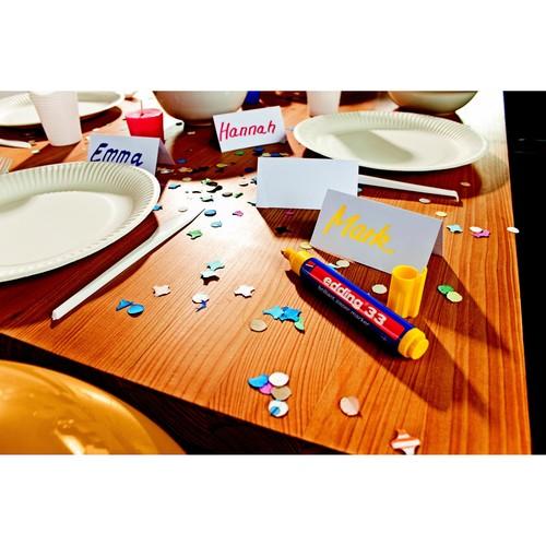 Brilliant Paper Marker 33 1-5mm Keilspitze schwarz Edding 4-33001 Produktbild Additional View 2 L