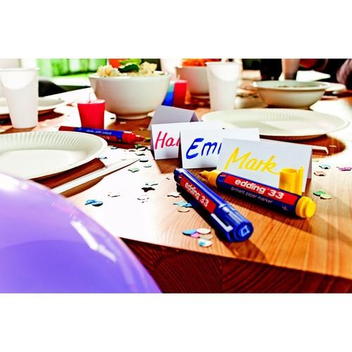 Brilliant Paper Marker 33 1-5mm Keilspitze rot Edding 4-33002 Produktbild Additional View 1 L