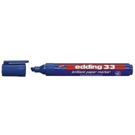 Brilliant Paper Marker 33 1-5mm Keilspitze blau Edding 4-33003 Produktbild