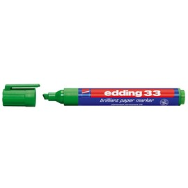 Brilliant Paper Marker 33 1-5mm Keilspitze grün Edding 4-33004 Produktbild