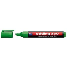 Permanentmarker 330 1-5mm Keilspitze grün Edding 4-330004 Produktbild