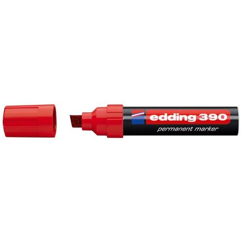 Permanentmarker 390 4-12mm Keilspitze rot Edding 4-390002 Produktbild Front View L
